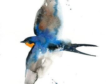 SWALLOW-Print 8x10inch-home decor-poster-nature art-bird art-animal art