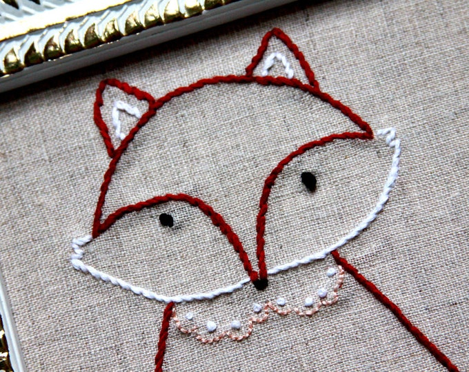 Francine the Floral Fox PDF Embroidery Pattern