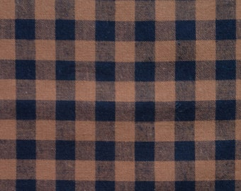 Brown and Black Woven Fabric Fat Quarter