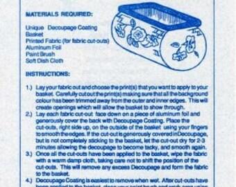 Decoupage Baskets (H. A. Kidd and Company Limited; Toronto; 1992; Fine Loose Leaf) USED