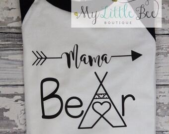 Mama Bear Shirt, Raglan Baseball Shirt, Mama Bear Shirt, Mommy to be Shirt, Baby Mama Shirt, Mom Shirt, Mommy Shirt