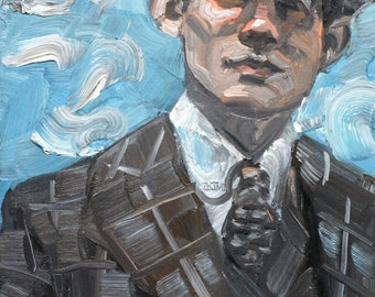 Scottish Intersexhuman,  oil on canvas panel 11x14 inches by KennEy Mencher