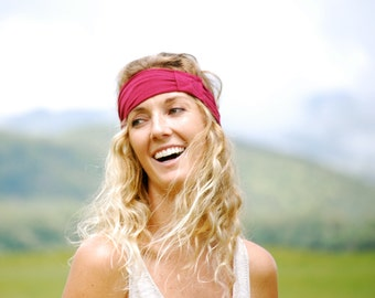 Headband - Hairband - Eco Friendly - Ruby Red - Yoga Headband  - Organic Clothing