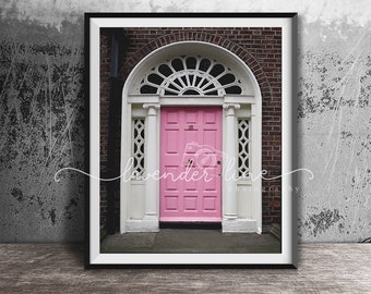 DUBLIN IN PINK, Colour Photography Print, Dublin Doors, Dublin, City, Cityscape, City Doors, Vibrant, Wanderlust, Home Decor Wall Art