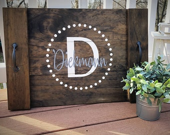 Rustic Farmhouse Personalized Serving Tray
