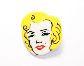 Handmade by Hesukinae Studio, Handmade Marilyn Monroe Brooch