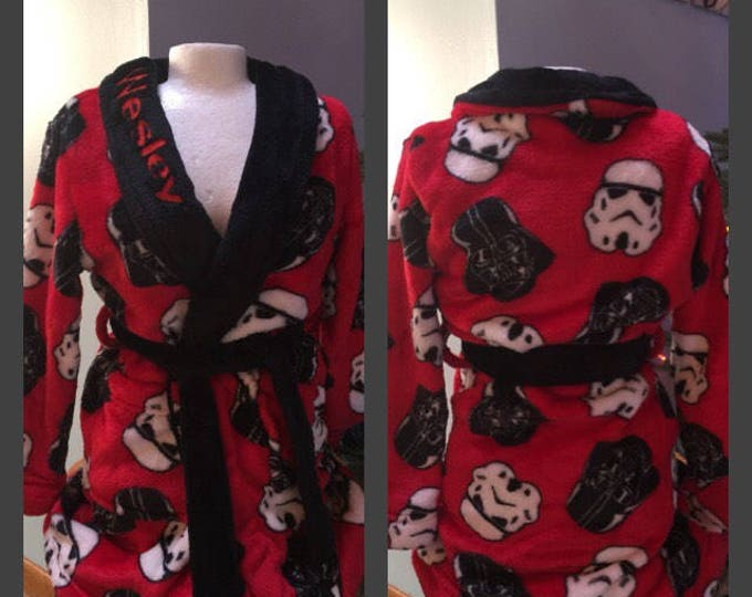 Boys 4-12 Star Wars Darth Vader Storm Troopers Fleece Robe - Personalized Monogrammed