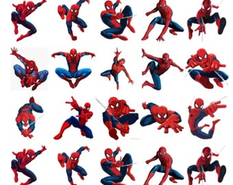 Spiderman 30 birthday edible stand up cake toppers decorations premium wafer card, available precut or uncut