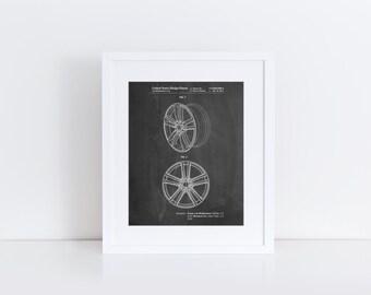 Tesla Car Wheels Patent Poster, Tesla Motors, Car Part Art, Automotive Art, Garage Decor, PP1091