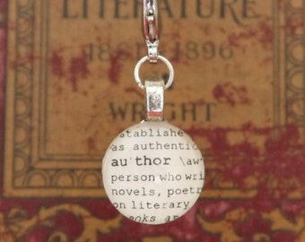 Author Dictionary Word Clip-on Charm by Kristin Victoria Designs