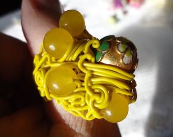 Yellow Submarine Ring Size 12 USA