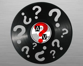 Your theme - carved vinyl record art for special occasions: Birthday, Christmas, Weeding, Holiday