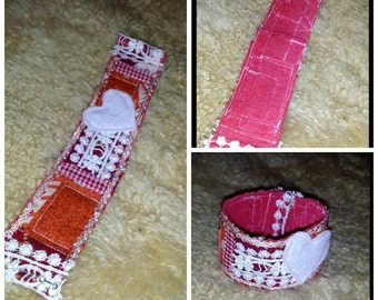 Patchwork Quilted Cuff Bracelet