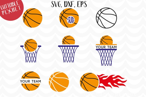 Basketball monogram svg, dxf, eps, flame basketball svg, basketball ...