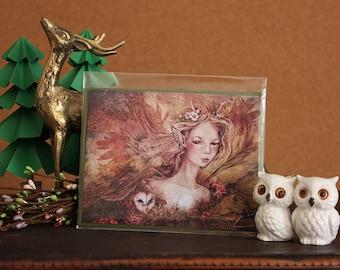 Fairy Tale Art Card | Titania's Daughter Greeting Card | Print of Original Fantasy Illustration