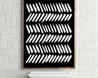 Printable Art / Geometric Print / Wall Art Print / Black and White Art Print