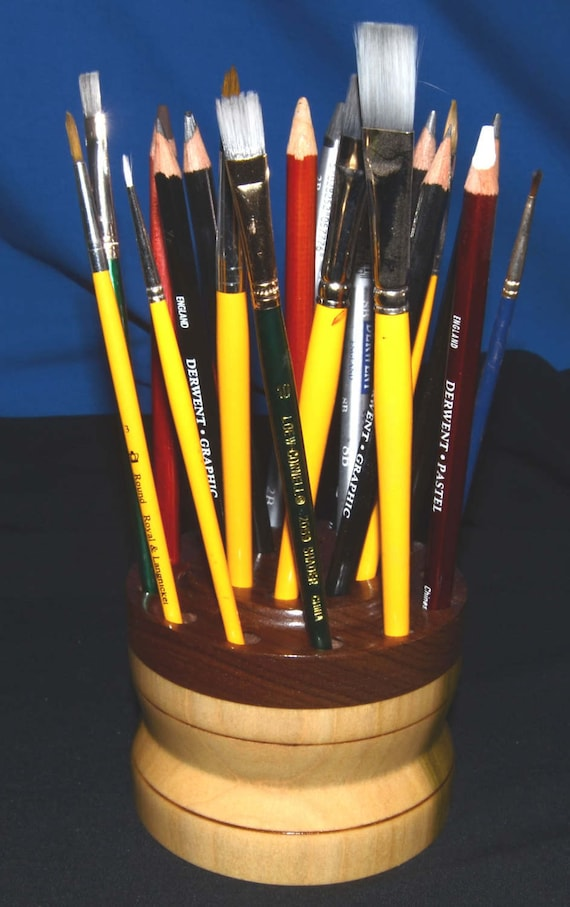 21 Brush/Pencil Holder – Poplar and Black Walnut 14-17