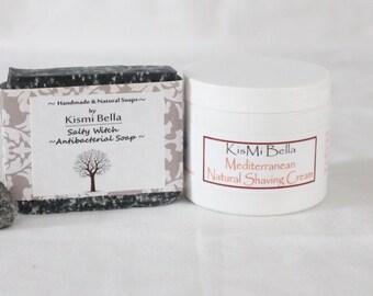 Soap Box Gift, Boyfriend Gift, Groomsmen Gift, Fathers Day, Mens Shave kit, Gift Box For Him, Handmade Soap and Vegan Natural Shaving Cream