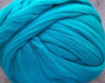 Wool Roving, Merino Roving, Merino Wool Roving, Felting Wool, Spinning Wool - Peacock - 8oz