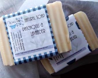 Patchouli Lavender Soap- Cold Process Essential Oils- Vegan