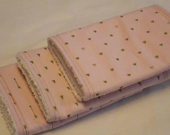 Pink and Gold Burp Cloth Set, Burp Rags, Burp Cloths, Baby, Pink and Gold Burp Cloths, Baby Girl Burp Cloths, Baby Girl, Baby Shower Gifts