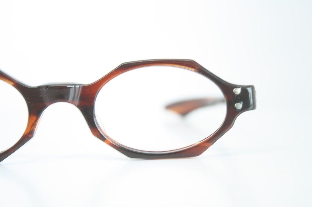 Vintage Eyeglasses Unused Unique Small Tortoise New Old Stock