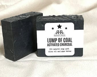 Lump of Coal = Activated Charcoal Handmade Soap