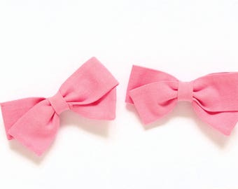 Small Pink Bows - Pigtail Bows - Hair accessories for braids