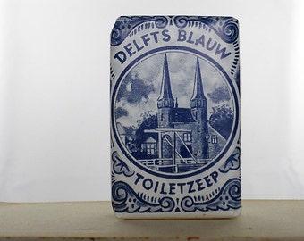 Vintage Delft Blue Soap Bar Dutch