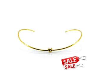 Knot Gold Choker Nacklace Gold Collar Necklace Gold Necklace Brass Choker Necklace Gold Brass Necklace Brass Collar Necklace 132