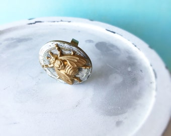 Gold bee Locket poison ring