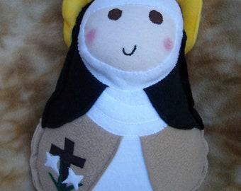 Saint Doll Catherine of Siena Soft Catholic Religious Toy