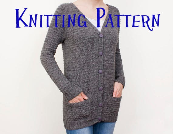 Pdf Knitting Pattern Granite Cardigan Womens Cardigan Knitting