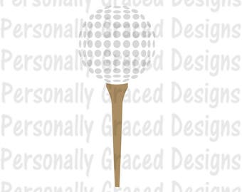 SVG, DXF, EPS Cut file Golf Ball svg, Golf Tee Svg, Golfing Design, silhouette cut file, cameo file, Cricut File, Instant Download, Golfer
