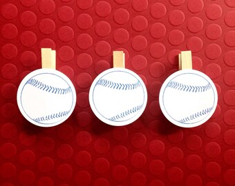 Baseball Clothespin Party Decoration Baby Shower Wedding Birthday Sports Clips Party Supplies Dont Say Baby Game Photo Display