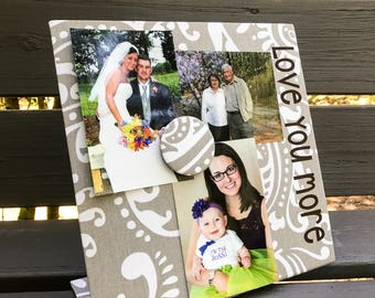 Magnetic Board - Mother's Day - Love You More - Magnet Board - Magnet Picture Frame - Message Board - Memory Board - Couple Gift