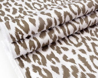 Cotton sateen fabric heavy stretchy leopard x 50cm