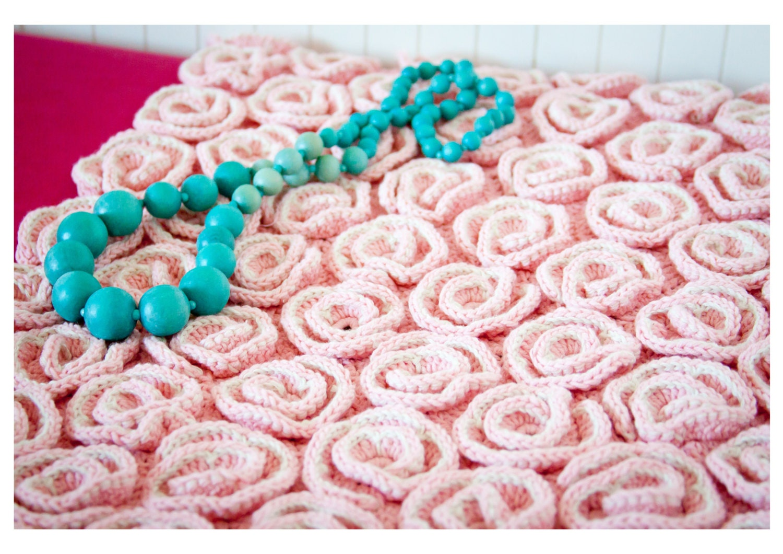 Crochet Baby Blanket Pattern, Unique Rose blanket, afghan, bed cover ...