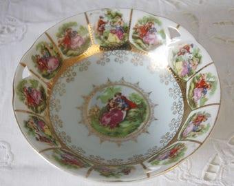 Vintage Azur Blue Porcelain Bowl, Candy Bowl, Love Story Decor, Germany