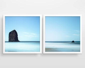 Photography Prints, Wall Art Set of 2 Prints, Ocean Print, Beach Print, Coastal Art, Wall Art Prints, Beach Decor, Ocean Art, Beach Art