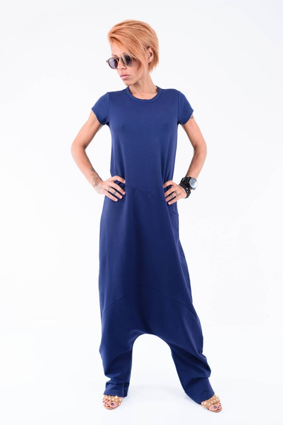 Pants Harem jumpsuit Jumpsuit size Women Jumpsuit Summer Clothing Jumpsuit Harem Women Clothing Blue Plus Jumpsuit wYxqIn0d