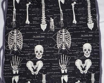 Skeletons Glow In The Dark Anatomy: Backpack/tote