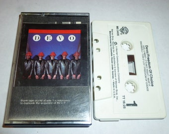 DEVO Freedom Of Choice CASSETTE TAPE with Handmade Cover