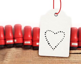 Mini Heart Rubber Stamp