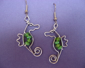SEAHORSE EARRINGS wirework