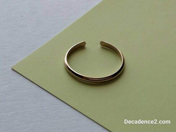 Skinny 14K Yellow Gold Fill Toe Ring- Half Round -1.5mm
