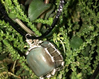 Aventurine Wire wrapped stone necklace
