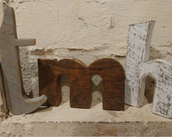Rustic Distressed Reclaimed Barn Wood Lower Case Letters. Any LETTER, any FONT, any COLOR!
