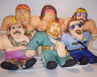 Need a little excitement?  Snap into All 6 Original Tonka Wrestling Buddies 1990!