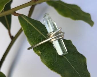 Aquamarine ring and 925